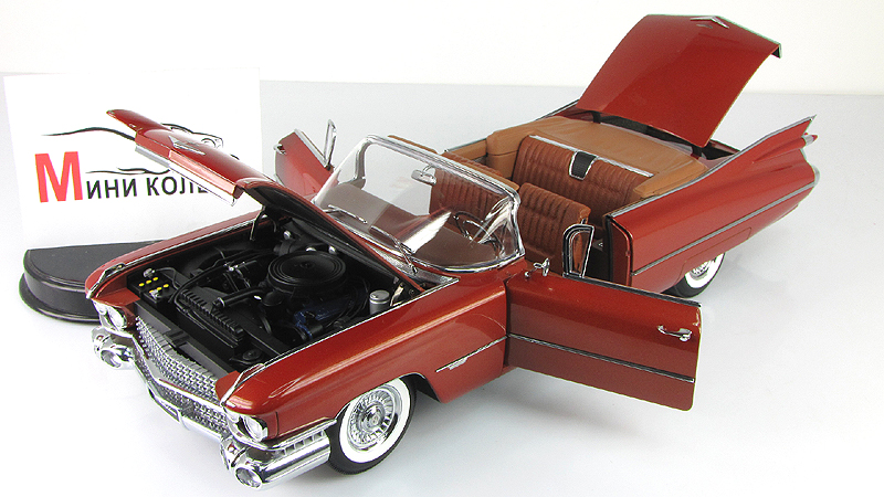 Autoart 1:18 1959 cadillac convertible series 62 diecast car
