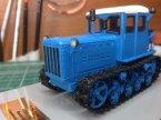 Т-75 трактор (синий, чистый)